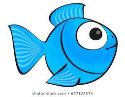 Un mignon poisson bleu